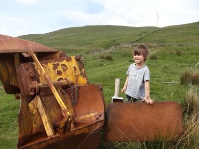 Yay! A rusty old plough! Happy Sid.