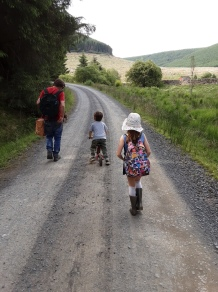 Walking back from the bothy